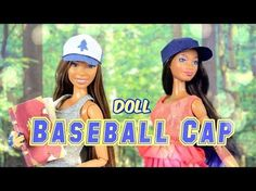 How to Make a Doll Baseball Cap - Doll Crafts - YouTube
