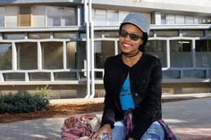 """""""What I enjoy about Kovsies: The environment is good, the people around here are cool, and the lectures and everything are just awesome. Wha T, One Pic, Environment, Bomber Jacket, Cool Stuff, Awesome, People, Fashion, Moda"""