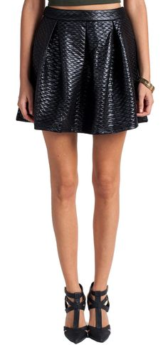 #2020AVE                  #Skirt                    #Quilted #Leather #Skater #Skirt #2020AVE           Quilted Leather Skater Skirt   2020AVE                                        http://www.seapai.com/product.aspx?PID=823223