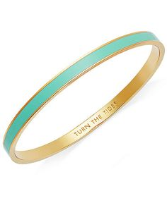 Kate Spade bangle ($32) These are in such cute colours and I love the adorable little quotes engraved inside. I would love 3 in different colours