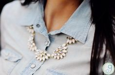 GroopDealz | Crystal Eclipse Statement Necklace