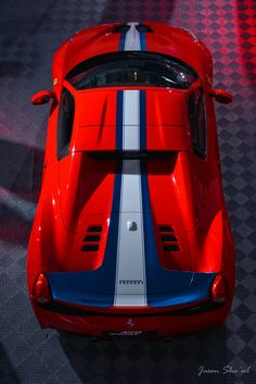 The beautiful Ferrari 458 Speciale A on display in Ferrari Hospitality during the 2015 Rolex 24 at Daytona.
