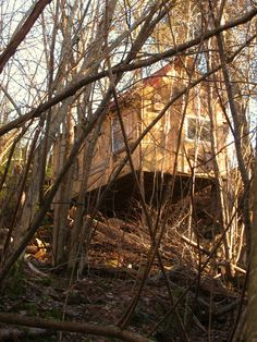 An odd house in the middle of the forests of Lilleaker area