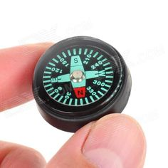 25mm Mini Outdoor Survival Button Compass - Black + Green (5 PCS)