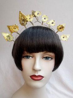 Vintage tiara crown headdress Indonesian tribal by ElrondsEmporium