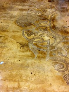 WOW - would love for a bathroom or kitchen.  amazing floor-pretty...cant decide if I like stained concrete or not..