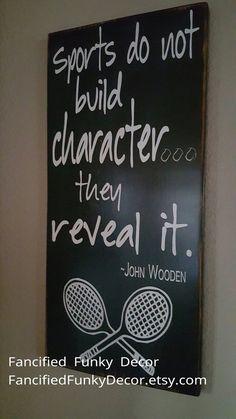 Tennis Decor John Wooden Sports Tennis by FancifiedFunkyDecor Tennis Party, Tennis Gifts, Sports Party, Softball Players, Tennis Players, Tennis Decorations, Locker Room Decorations, Tennis Online, Tennis Workout