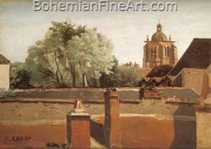 Jean-Baptiste-Camille Corot, Bell Tower of the Church of Saint Paterne, Orleans Fine Art Reproduction Oil Painting