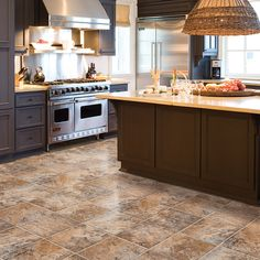 Grand Cayman LVS, a rustic slate look that captures the deep rich earthy hues of the tropics