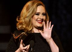 """Adele credits her """"rubbish relationship"""" with paving the road to her night full of GRAMMYs ....it's what 21 is about."""