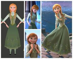 Anna's End of Movie Dress - want to disney bound this one