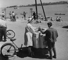 Római-part, fagyis néni, 60-as évek eleje