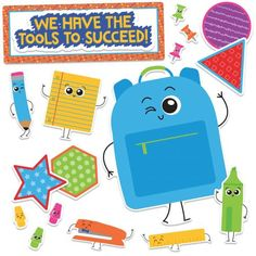 School Tools We Have the Tools to Succeed! Bulletin Board Set, CD110355