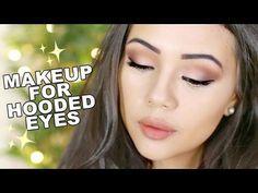 Beginners Eyeshadow Tutorial // Everyday Makeup for Hooded Eyes Video Rating: / Droopy Eye Makeup, Eye Makeup Steps, Simple Eye Makeup, Smokey Eye Makeup, Makeup Tips, Makeup Ideas, Droopy Eyes, Makeup Inspo, Beauty Makeup