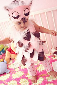 I think this is going to be Keira's Halloween costume this year! Her nickname is Wooter or Woots and I'm obsessed with owl stuff for her!