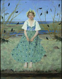 Spring by Harald Slott-Møller(1864-1937), Danish (womeninarthistory)