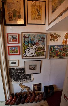 Mark Hearld's home and studio on this photostream