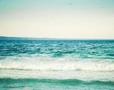 Ocean Photography  water beach sea dark blue por CarolynCochrane