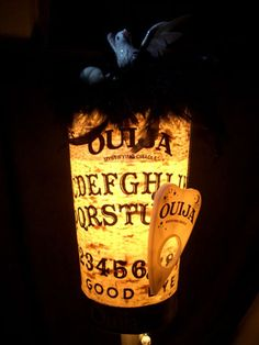 Divination:  Ouija Board Lamp with Planchette.