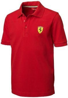 Ferrari Red Size-92 Kids' Polo Shirt Size: Size-92 Color: Red, Model: 5000052-600-467, Car & Vehicle Accessories / Parts. Official Ferrari product. Material: 100 percent cotton pique, 200 grs. Machine washable.