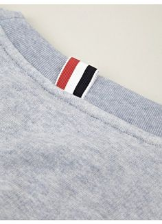 innovative and directional menswear product from the world's most sought-after designers Textiles, Lacoste, Blue Crew, Clothing Labels, Polo T Shirts, Thom Browne, Fashion Branding, Mens Sweatshirts, Fashion Details