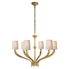 Ruhlmann Chandelier, Antiqued Brass $1,679.00