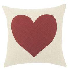 Heart Pillow I in White