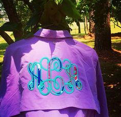 *THIS IS A Columbia Mens NAME BRAND SHIRT!!!!!! Monogrammed Fishing Shirt with Lilly Pulitzer Fabric