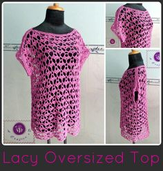 Looking for your next project? You're going to love Lacy Oversized Top - All sizes by designer BeACrafterxD.