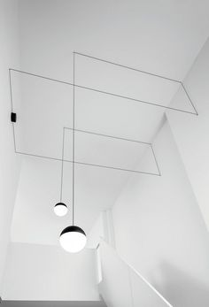 Suspension LED STRING LIGHT - TÊTE SPHÉRIQUE By FLOS design Michael Anastassiades