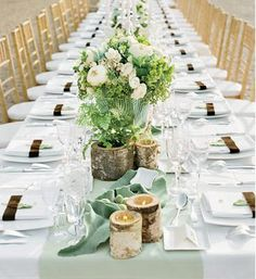 beautiful wedding table settings - Bing Images.  Simple but nice.