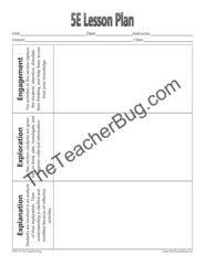 5E Lesson Plan Template/Graphic Organizer | Lesson plan templates ...