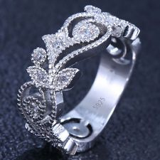 Unique Jewelry - Women's Fashion 925 Silver 0.56CT White Topaz Wedding Engagement Men Ring Size 7