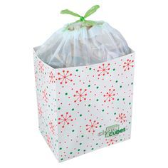 Our Snowflake Clean Cubes® Trash Bin is perfect for holiday parties or to collect wrappings on Christmas morning