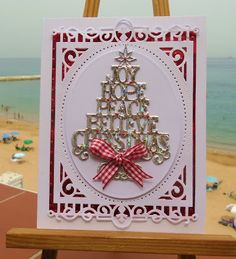 weather here in Gibraltar is still red hot. Very humid too . Die Cut Christmas Cards, Christmas Card Crafts, Homemade Christmas Cards, Merry Christmas Card, Diy Christmas Tree, Xmas Cards, Christmas Projects, Handmade Christmas, Christmas 2017
