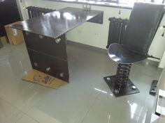 Stol stalowy + krzesło