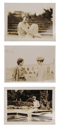 Three Amelia Earhart Photographs - Lot 195 from September 2012 Auction - each 2-3/4 x 3-3/4 in - Estimate $800 to $1,200 - Click the picture to see full description