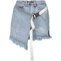 Shop Palm Angels Skirt and save up to EXPRESS international shipping! Lit Outfits, Tumblr Outfits, Stage Outfits, Kpop Outfits, Casual Outfits, Denim Fashion, Fashion Outfits, Denim Trends, Asymmetrical Skirt