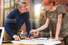 Working with young and creative people royalty-free stock photo