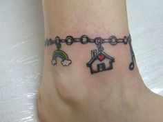 Wonderful Anklet Tattoo Design