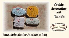 Mother's Day  cookies with cute animals