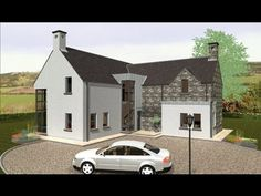 68 ideas house plans ireland 2 storey for 2019 L Shaped House Plans, 3d House Plans, House Plan With Loft, Basement House Plans, Bedroom House Plans, Small House Plans, House Designs Ireland, Dormer House, Pool House Designs