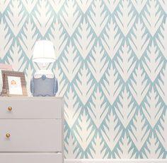 Kids room decor. Geometric Floral Pattern