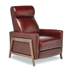 Kenny Leather Manual Wall Hugger Recliner