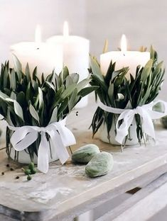 candles wedding decoration ideas hochzeit Gorgeous Olive Green Wedding Color Ideas for 2019 Trends - EmmaLovesWeddings Candles Wedding, Diy Wedding, Spring Wedding, Wedding Reception, Wedding Cakes, Elegant Wedding, Wedding Wraps, Garden Wedding, Table Wedding