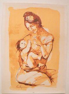 Serigrafia Original Castagnino Maternidad En Sepia Certific