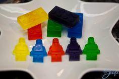 Lego birthday party - handmade Lego soap