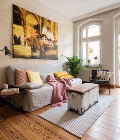 So Leb Ich blogger La Luce's Bemz summer transformation | IKEA Beddinge sofa bed with a Bemz slipcover in Zinc Grey Belgian Linen Blend | www.solebich.de/mitglied/la-luce
