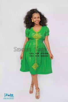 Beautiful design Ethiopian Traditional Dress, African Traditional Dresses, Traditional Clothes, African Style, African Fashion, Women's Fashion, Habesha Kemis, Ethiopian Dress, Modern Outfits