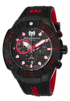 5f9c42f4aff TechnoMarine Men s Black Reef Chronograph Modern Watches